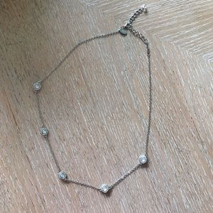 Dress up silver necklace